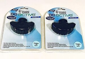 2x Campbell Canes Be Active Rocker Tip Universal Size Rubber Crutches