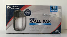 Lithonia Lighting Outdoor Mini Wall Pack Dusk to Dawn Photocell Black Bronze