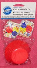 Red Celebration Cupcake Papers Combo Pack,Picks, Wilton,Primary Colors, Party