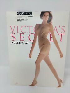 Victoria's Secret Pulse Points Sheer Compression Level 1 Pantyhose Small Black