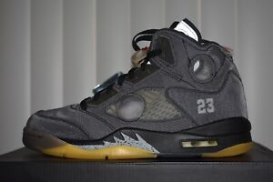 Jordan 5 Retro Off-White Black US Men's Size 10 New DS