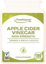 Apple Cider Vinegar 180 High Strength Capsules Diet Weight loss & Sugar Balance