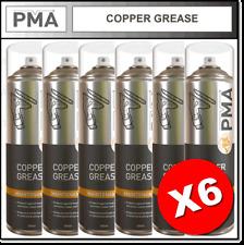 6 x PMA Copper Grease High Temperature Aerosol Maintenance Spray 500ml COPGR