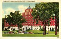 Vintage Postcard -Veterans Hospital Admin Building Maine Linen Un-posted #1748