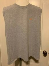 Nike Size Large Sleeveless Gray Tank Top