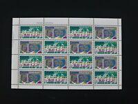 Canada Stamp #858a-pane - O Canada Centenary (1980) 16 x 17¢ Pane of 16