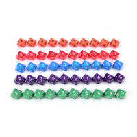 10pcs multi sides dice D10 gaming dices for RPG games 、 Nd