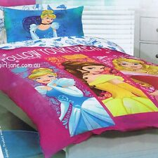 Disney Princess - Follow Your Dreams - Single/US Twin Bed Quilt Doona Cover Set