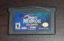 Nintendo GBA. Jimmy Neutron Boy Genius. AGB-AJNE-USA