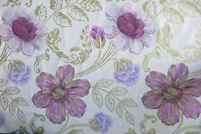 "DESIGNERS GUILD CURTAIN FABRIC ""Amalienborg"" 2.2 METRES AMETHYST 100%25 COTTON"