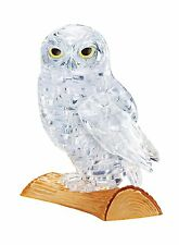 3D Crystal Gallery Jigsaw Puzzle Owl Clear 42 pieces FROM  JAPAN