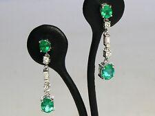 Emerald Drop/Dangle 14k Fine Earrings