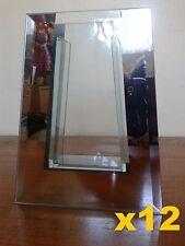 X12 Specchio Di Vetro Decorativa Vaso Centrotavola 20cm alto BULK LOTTO all'ingrosso