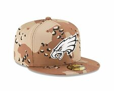 New Era 59FIFTY Philadelphia Eagles Fitted Hat Camouflage Desert Camo 7 1/8 NFL
