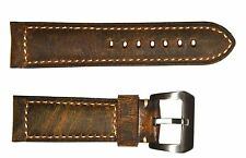 24mm Premium Assolutamente Leather Band Strap with 316L Buckle fit PANERAI