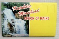 Vintage Katahdn Moosehead Region of Maine Postcard Self-Mailer w/12 Color Pics