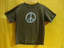 HIPPIE PEACE SIGN T-SHIRT GROOVY KIDS COLLECTIBLE TEE BOYS SIZE X-LARGE