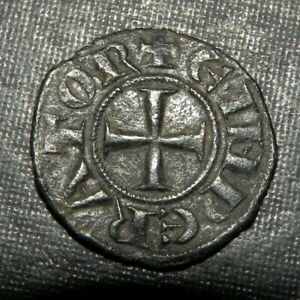 Medieval Silver Coin Crusader Templar Cross Ancient Lot 1200's AD Antique Eagle