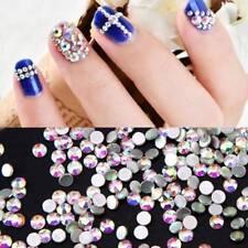 1000 Pcs Nail Art Flatback 14 Facets AB Resin Round Rhinestone Beads 4mm Women