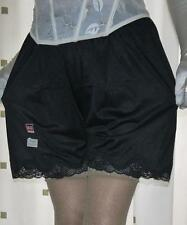 2 pairs of black silky nylon & lace french knickers panties briefs culottes