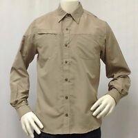 Men's Button Down Shirt Long Sleeves 100% Polyester Nice Soft Fabric pocket mesh