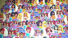 "SET of 56 1"" PRECUT ""LEGO FRIENDS"" Bottle Cap Images.Birthdays,hairbows!!"