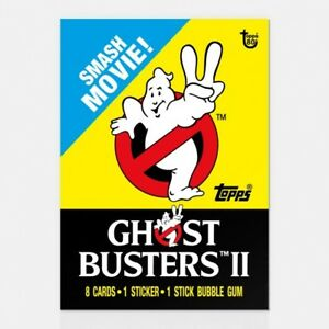 GHOSTBUSTERS II TOPPS 80TH ANNIVERSARY WRAPPER ART CARD #26 #Topps #Ghostbusters
