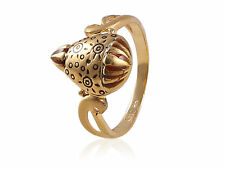 Beautiful Dubai Engagement Cocktail Ring In Solid Hallmark 22K Fine Yellow Gold