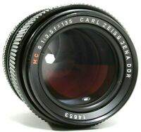 Carl Zeiss Jena DDR 135mm f/3.5 MC Prime Lens Canon EOS M42 Mount UK Fast Post