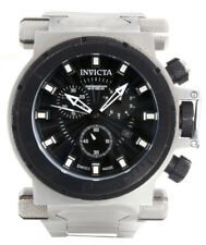 Invicta 10028 Coalition Forces Black Dial Steel Bracelet Mens Watch 50mm