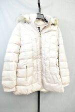 Nuvano Women's Plus City Hooded Puffer Winter Jacket - Size 2X - Beige