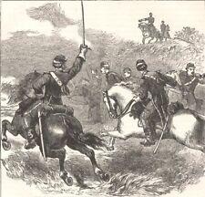 MILITARIA. Civil War. General Sheridan, Cedar Creek c1880 old antique print