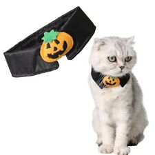 Halloween Dog Cat Pet Black Festive Dress Up Costume Pumpkin Cute Bow Tie Collar