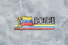 Patch Country Flag Sew On Iron On Jacket Shirt or Pants Venezuela Color