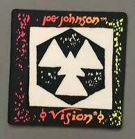 Vtg Vision Street Wear Sticker Decal Skate Skateboard Joe Johnson Neon Symbol