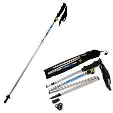 Folding Collapsible Trekking Pole Climbing Hiking Stick Alpenstock Adjustable
