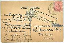 AUSTRALIA : POSTCARD  to ITALY from: Normanhurst, New South Wales - TAXED!