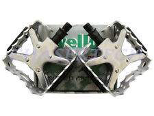 "New Wellgo LU-953 BMX Bicycle Bike Bear Trap Style Pedals 1/2"" Silver"