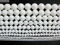 Natural White Alabaster Gemstone Round Beads 15.5'' 2mm 4mm 6mm 8mm 10mm 12mm