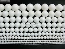 Natural White Alabaster Gemstone Round Beads 15.5'' 2mm 4mm 6mm 8mm 10mm 12mm
