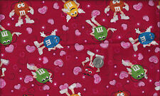 I Love M & M Candy M&M's I Spy Jar Quilt Wedding Valentine By the Fat Quarter