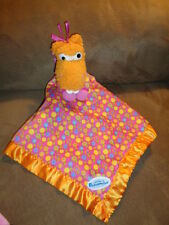 Blanket Pajanimals Sweet Pea Sue Tomy Orange Hippo Plush Baby Security Lovey