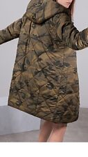 Stradivarius (Zara Group) Reversible Camouflage Padded Parka Coat Size S Uk 8/10