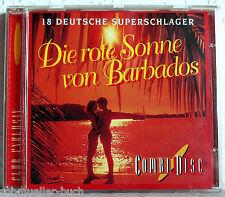 CD DIE ROTE SONNE VON BARBADOS - 18 Deutsche Superschlager