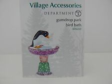 Dept 56 Village Gumdrop Park Bird Bath #4054220 New in Box Never Displayed