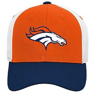 Denver Broncos NFL Youth Boys 8-20 Adjustable Team Colors Logo Hat/Cap