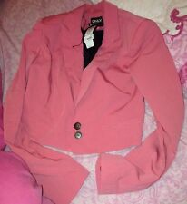 Crop New Look Pink Blazer Size 8 Bnwt Rrp£32 With Free Gifts!!!!