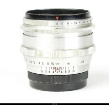 Lens Zeiss Aluminium  Biotar 2//58mm Red T  No.4416418  for Contax S Pentax M42