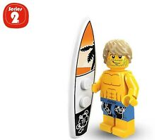 Lego Series 2 Collectible Minifigure: SURFER--$2.74 Flat Rate Shipping!