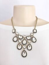 Womens Fashion Statment Necklace Set With Earrings Gold
